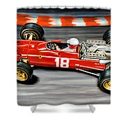 Lorenzo Bandini Ferrari F-1 Shower Curtain
