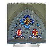 Loretto Chapel Stained Glass Shower Curtain