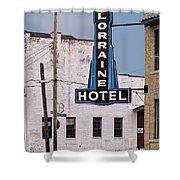 Lorraine Hotel Sign Shower Curtain