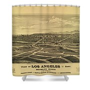 Los Angeles 1877 Shower Curtain