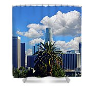 Los Angeles And Palm Trees Shower Curtain