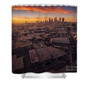 Los Angeles At Sunset Shower Curtain
