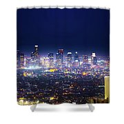 Los Angeles By Night Shower Curtain