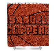 Los Angeles Clippers Leather Art Shower Curtain