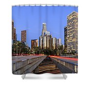 Los Angeles Downtown Night Scene Shower Curtain