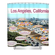 Los Angeles Highway To Heaven Shower Curtain