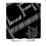 Los Angeles Kings Wood Fence Shower Curtain
