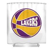 Los Angeles Lakers Retro Shirt Shower Curtain