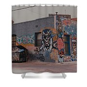 Los Angeles Urban Art Shower Curtain