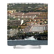 Los Gigantes From The Sea Shower Curtain