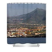 Los Gigantes Panorama 1 Shower Curtain