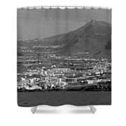 Los Gigantes Panorama 3 Shower Curtain