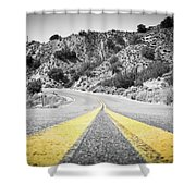 Los Padres Country Highway Shower Curtain