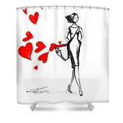 Lose  Your Heart Shower Curtain