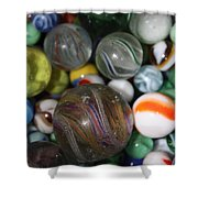 Losing My Marbles Shower Curtain