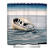 Lost At Sea Contd Shower Curtain