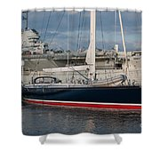 Lost At The Battle Of Midway June 1942 Shower Curtain