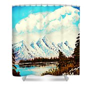 Lost Blue Lagoon - Elegance With Oil Shower Curtain