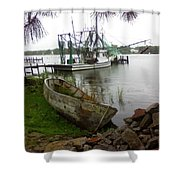 Lost Boat Shower Curtain