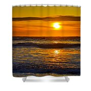 Lost Coast Sunset Shower Curtain