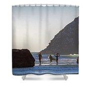 Lost Coast Surfers Shower Curtain
