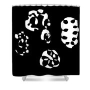 Lost Faces Shower Curtain