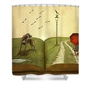 Lost In A Book Shower Curtain
