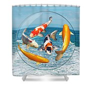 Lost In A Daydream - Fish Out Of Water Shower Curtain