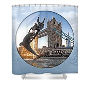 Lost In A Daydream - Floating On The Thames Shower Curtain