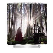 Lost In Beauty Shower Curtain