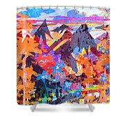 Lost In Colorado Shower Curtain