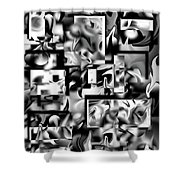 Lost In Dimension V Shower Curtain