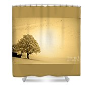 Lost In Snow - Winter In Switzerland Shower Curtain
