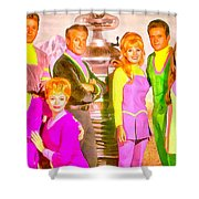 Lost In Space Team - Pa Shower Curtain