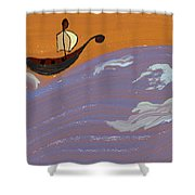 Lost In Storm Shower Curtain
