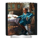 Lost In Thought Shower Curtain