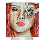 Lost In Thoughts Shower Curtain