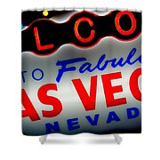 Lost In Vegas Shower Curtain