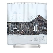 Lost In Winter Shower Curtain