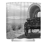 Lost On The Oregon Trail Shower Curtain