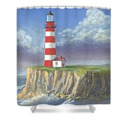 Lost Point Light Shower Curtain