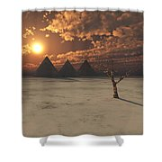 Lost Pyramids Shower Curtain