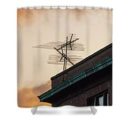 Lost Signal Shower Curtain