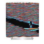 Lost Surfer Shower Curtain