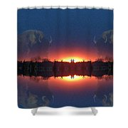 Lost World Reflections Shower Curtain