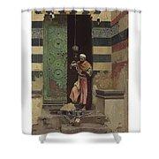 Lot 2 Raphael Von Ambros Austrian, 1855-1895 The Lamp Tender Shower Curtain