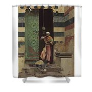 Lot 2 Raphael Von Ambros Austrian, 1855-1895 The Lamp Tender Shower Curtain