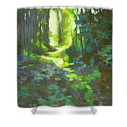 Lothlorian Wood Shower Curtain