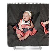 Lots Of Babies Shower Curtain