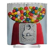 Lots Of Gumballs Shower Curtain
